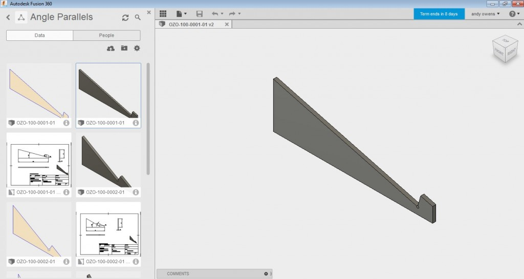 Drawing the parallels in Fusion 360